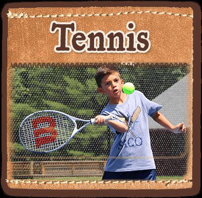 Tennis program at summer camp in Maine