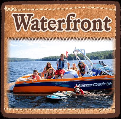 Waterfront and lake activities at summer camp
