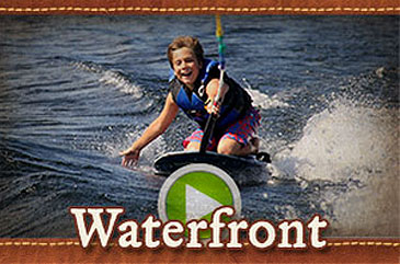 Waterfront and lake activities summer camp video