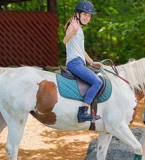 Horseback Riding program at summer camp