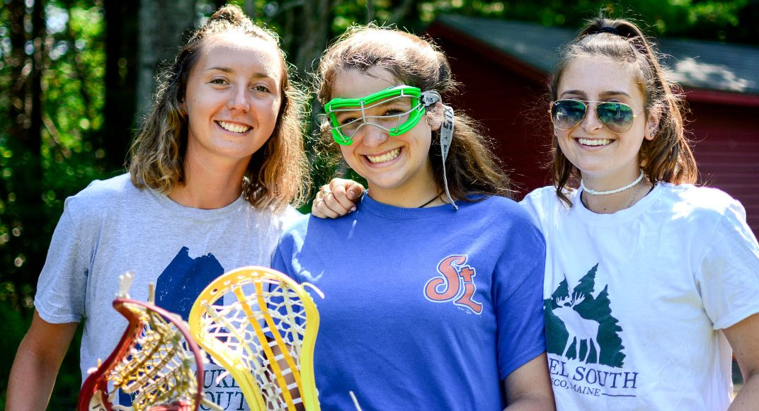 Athletics and sports program at summer camp in Maine